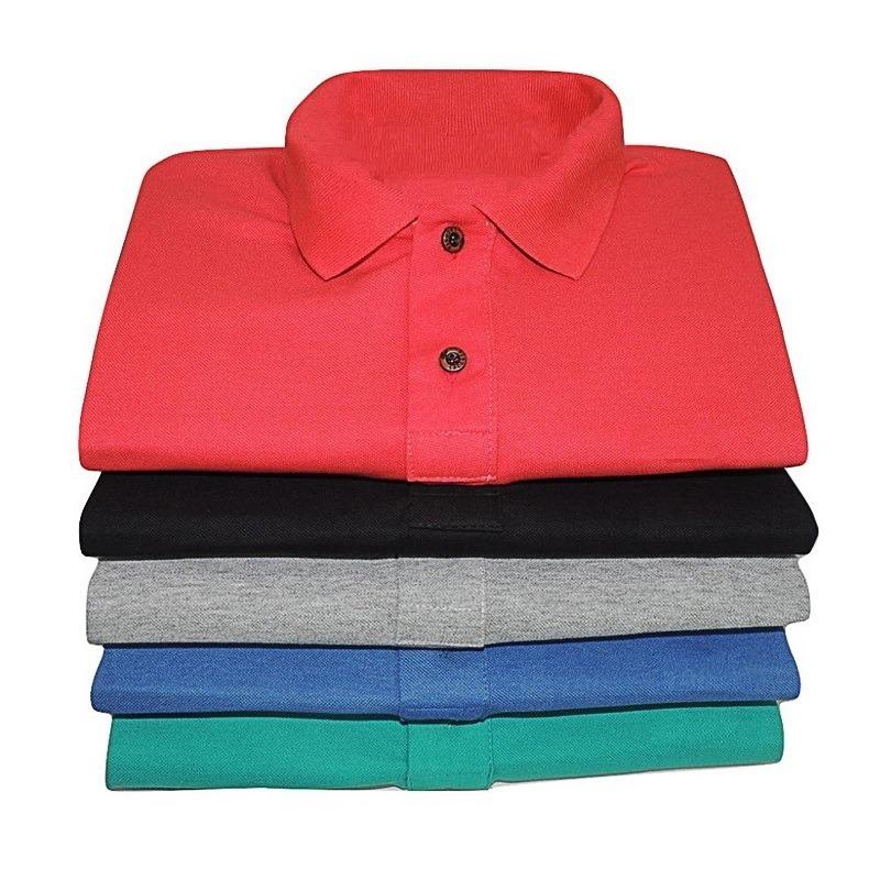 5 camiseta gola polo tecido piquet original frete gratis. Carregando zoom. 063c1db70f9f7