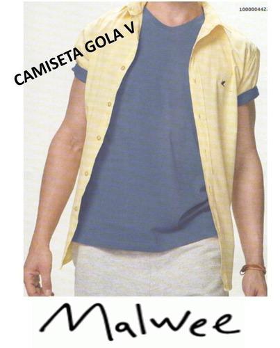 5 camiseta masculina malwee gola v basica