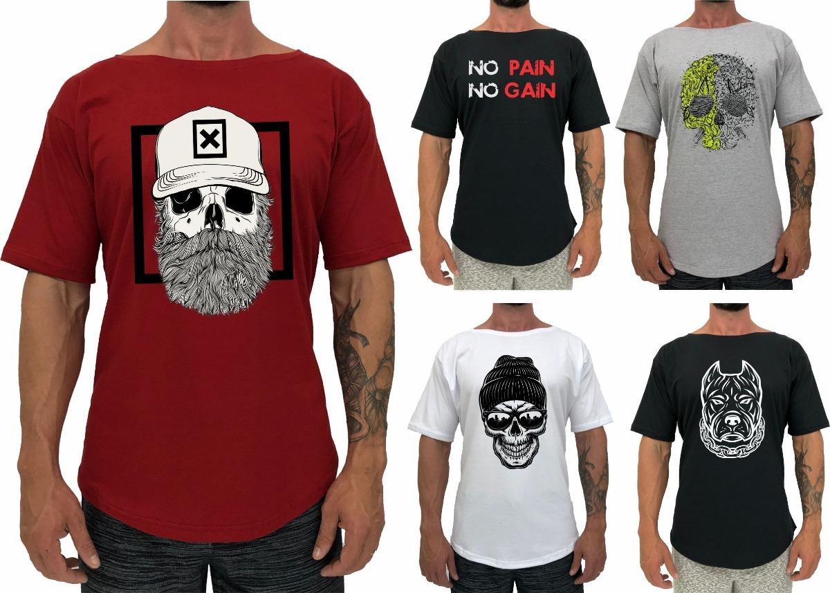 5 Camiseta Morcego Morcegão Musculação Blusa Camisa Gola - R  109 c117329d4e43a