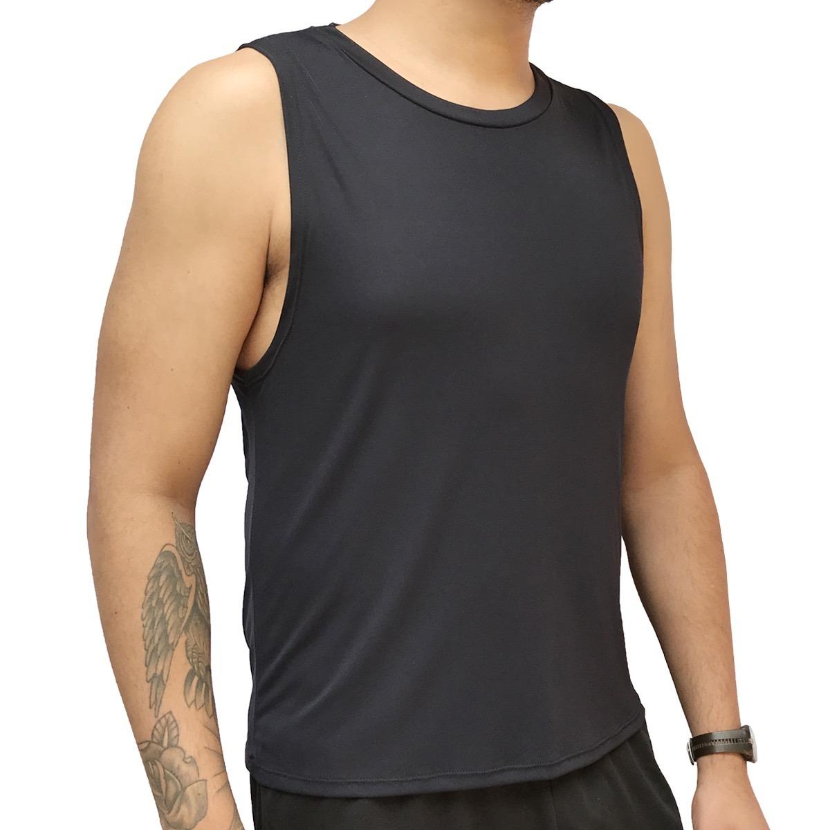 5 camisetas regata masculina fitness dry fit 100% poliamida. Carregando zoom . 96363910296