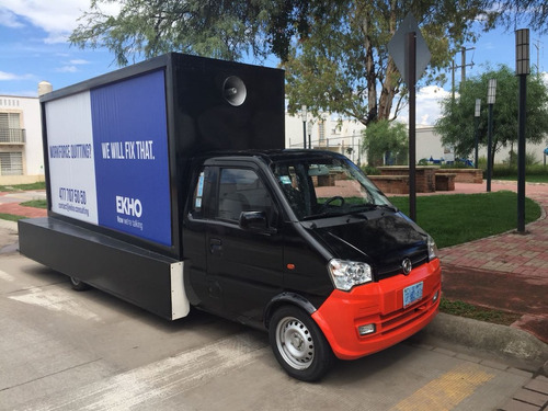 5 campañas en una, camioneta valla móvil publicitaria, dfsk