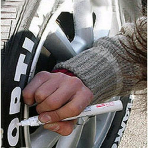 5 canetas tinta branca pinta pneus carro moto pneu