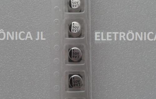 5 capacitores smd 1uf / 50v (frete incluso)