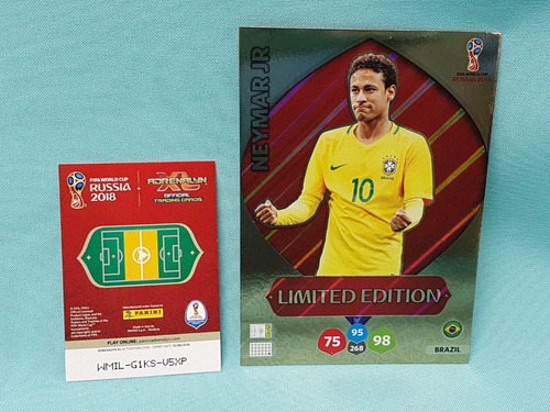 5 cards xxl copa 2018 limited edition messi cr7 kane neymar