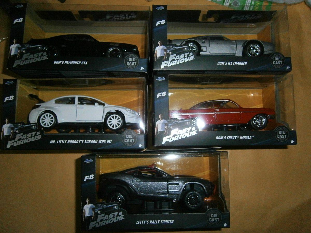 5 Carros Rapido Y Furioso 8 Jada 1 32 760 00 En Mercado Libre
