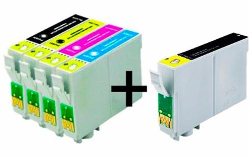 5 cartuchos compatível epson impressora stylus tx105