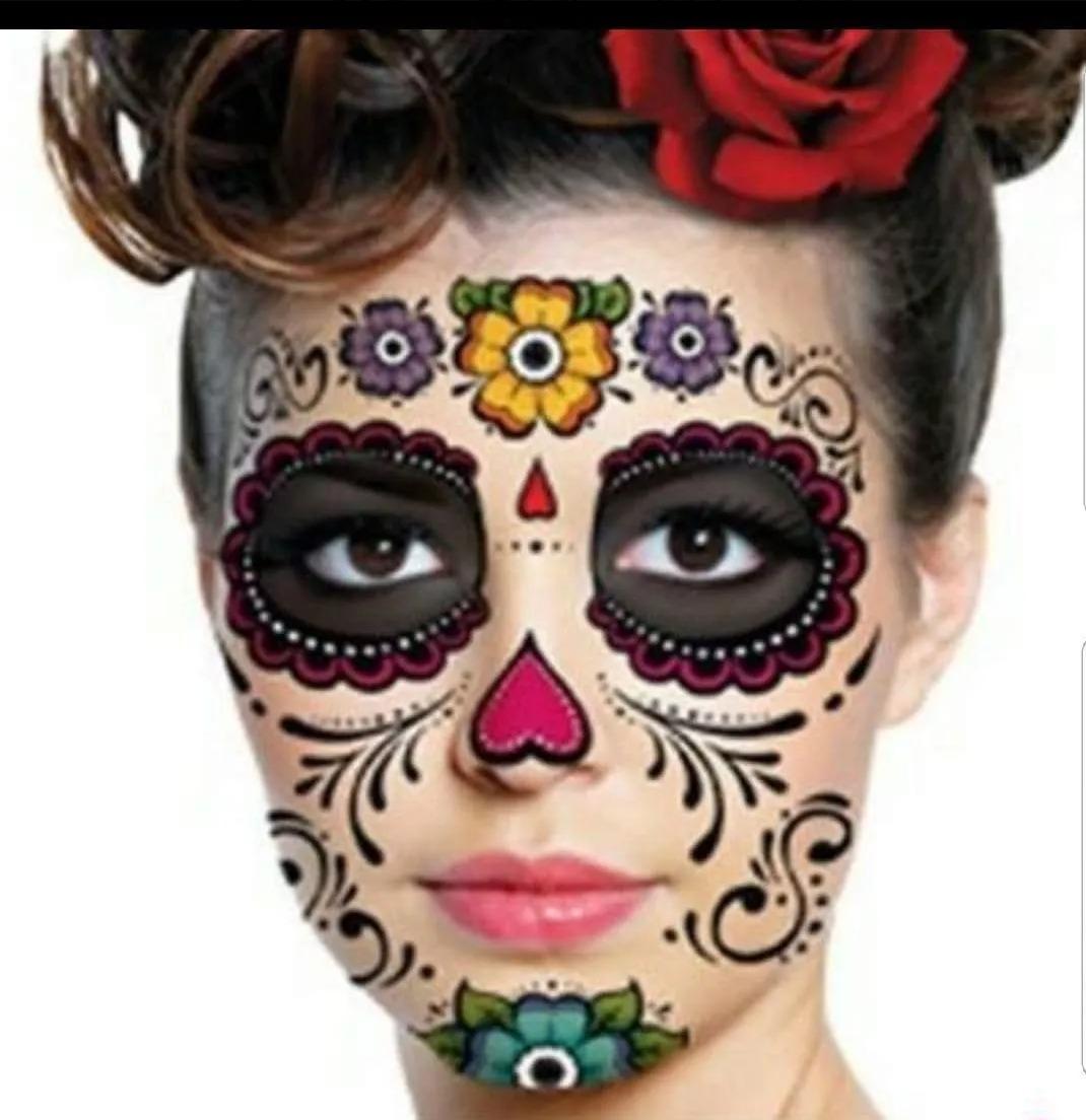 5 Catrina Tatuaje Catrin Disfraz Máscara Día De Muertos 29900