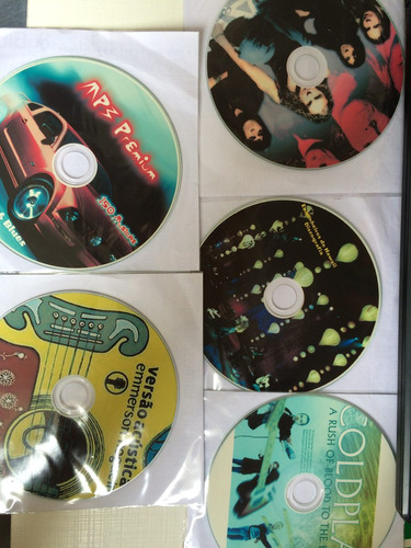 5 cds mp3 maná, coldplay, emerson nog., eng hawai, jazzblues