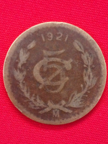 5 centavos 1921 cobre escaza y dificil id.0089