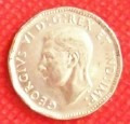 5 centavos 1945 canadá rey jorge vl antorcha victoria - vbf