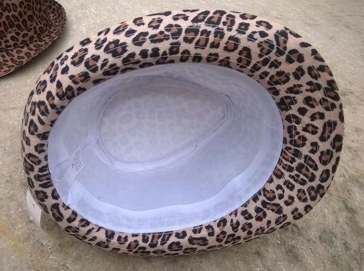764a9bdbe34de 5 chapéu panamá feminino oncinha onça tecido. Carregando zoom.