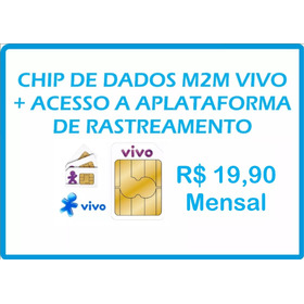 5 Chip Vivo M2m Central De Rastreamento Mensal Tk103b Tk303