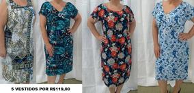 e62187d3c07f Vestido Para Senhora Evangelica Gordinha - Vestidos com o Melhores Preços  no Mercado Livre Brasil