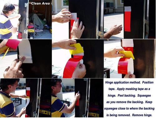 5 cm * 15m cinta reflectiva rollo trailer seguridad