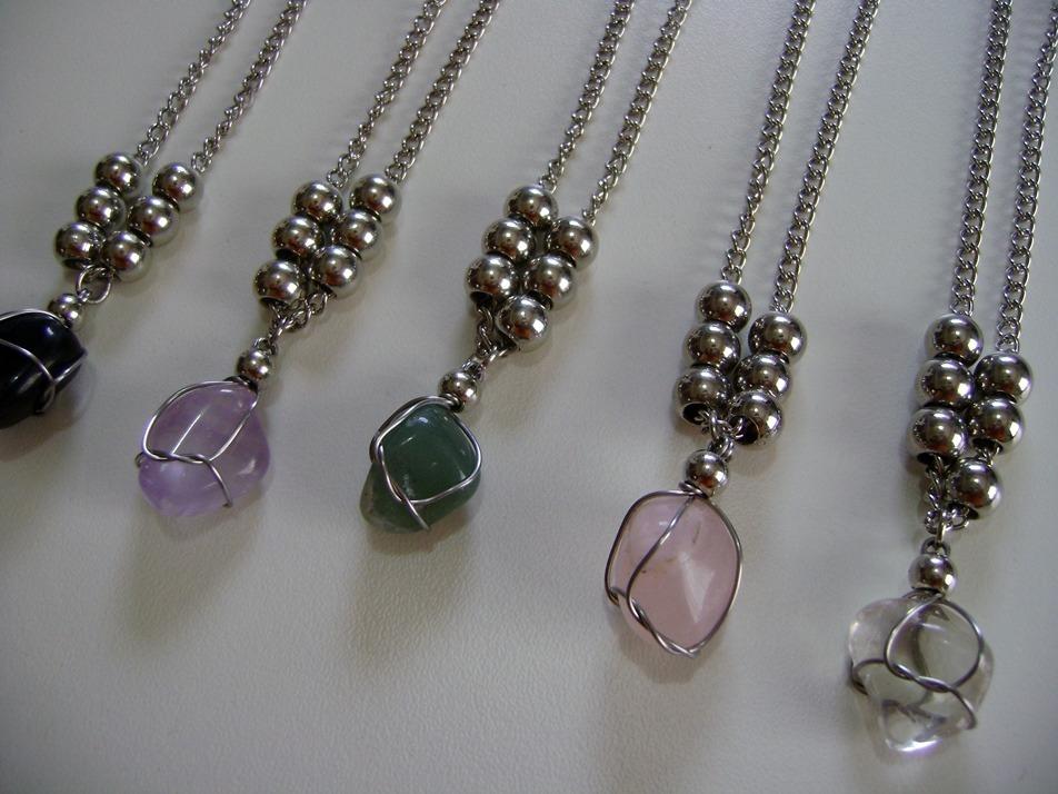 906fdd96ec85 5 collares piedras naturales amatista cuarzo onix cadena 50. Cargando zoom.