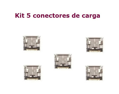 5 conectores de carga samsung gt-s5301 galaxy pocket plus