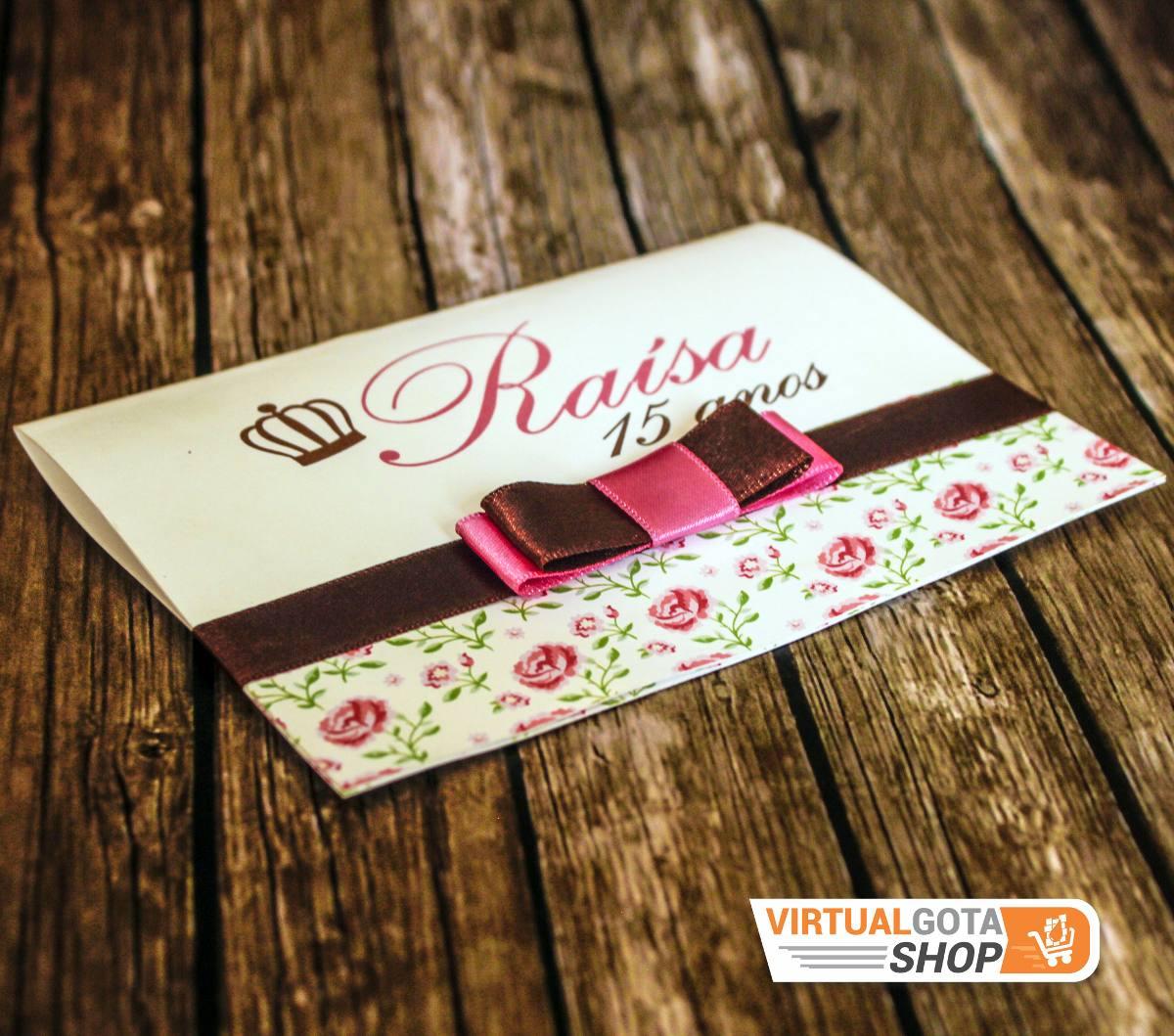 5 Convites Infantil 15 Anos Ou Aniversário Tema Rosas Floral R 9