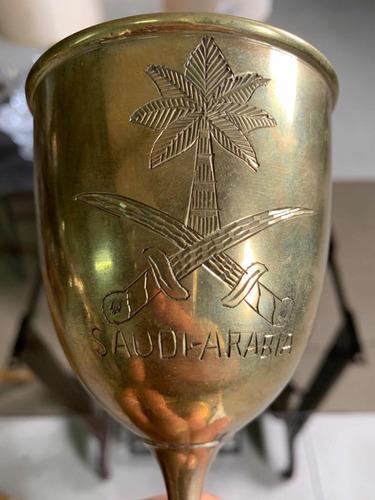 5 copas antiguas en bronce de arabia saudita.