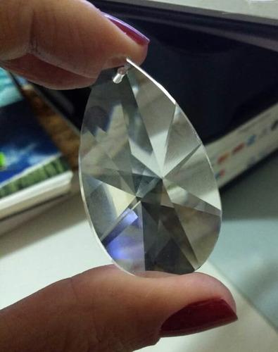 5 cristais gota amêndoa k9 raio 5,0 cm para lustres.