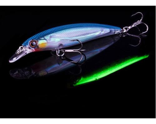 5 curricanes minnow 11cm 14gr brillan! pesca envio gratis!