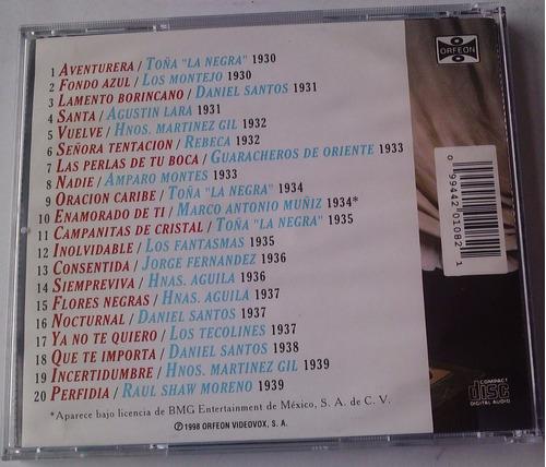 5 decadas de boleros de los 30 s cd raro de trios y solistas