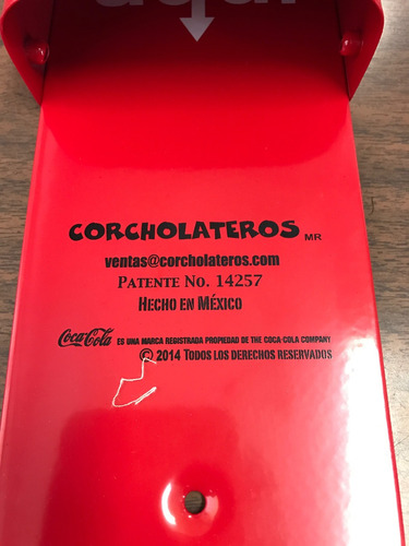 5 destapadores corcholateros coca cola envio gratis