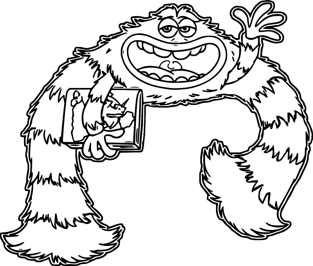 Dibujos Para Colorear De Monster Inc Imagesacolorierwebsite