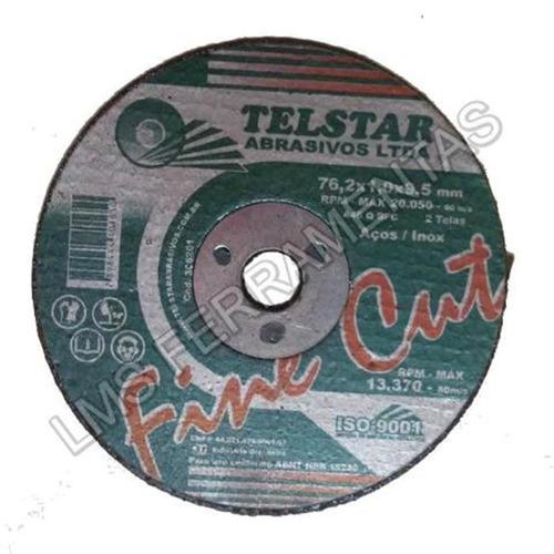 5 discos de corte extra fino 3 x 1,0 x 3/8 telstar - 15540