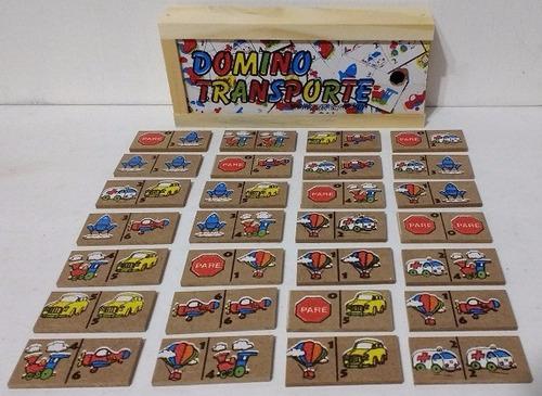 5 domino de madera memoria alfabeto loteria - diverti toys