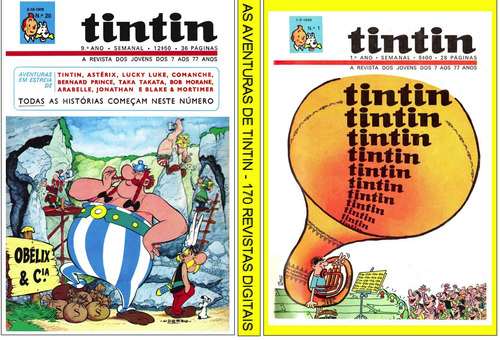 5 dvds c+ de  300 revistas digitalizadas- as aventur. tintin