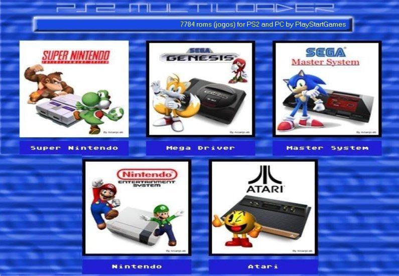 5 Emuladores Ps2 E Pc 7784 Roms - 543 Jogos De Master System