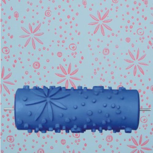 5 '' en relieve patrón de flores pintura rodillo pared arte