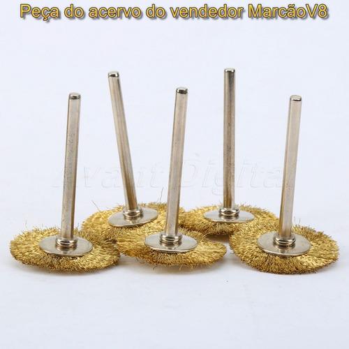 5 escovinhas de latão 25 mm para dremel e outras ngk