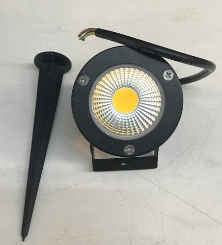 5 espeto luminaria para jardim com lâmpada cob led 7w