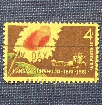 5 estampillas kansas new mexico oregon arizona statehood