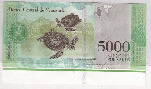 5 etapas de impresion billete 5000 bolivares c8 2017 unc