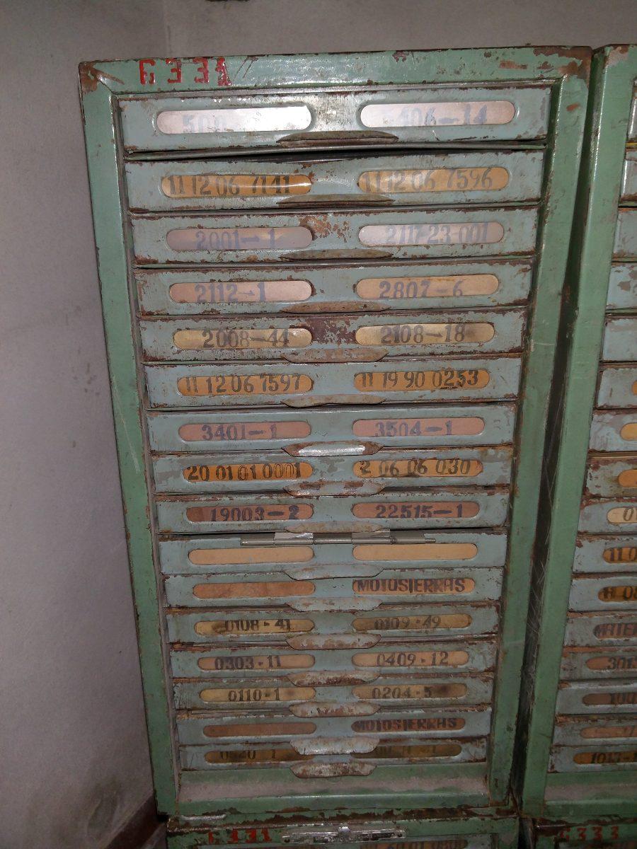 5 Fichero Cajonera Antiguo Mueble Metal No Vitrina Publicida  # Muebles Ficheros