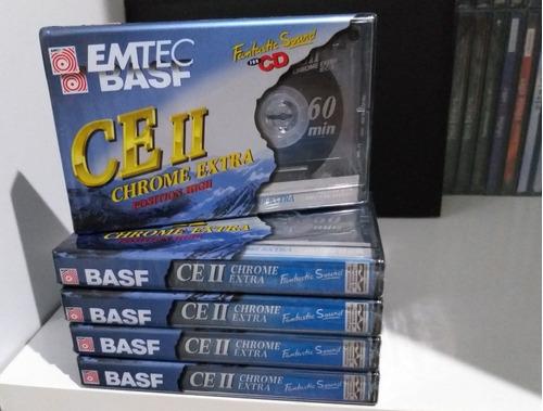 5 fitas cassete basf chrome extra 2 novas frete grátis :)
