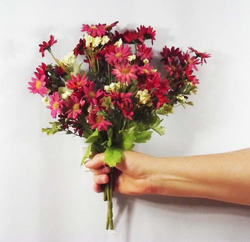 5 flores campo bouquet flores artificiais artificial pequeno