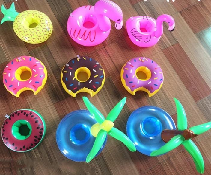 Flotadores Para Las Bebidas 9 Flotadores Surtidos Frutas Flamingo Patos Fiestas