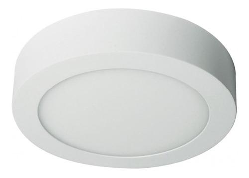 5 foco led panel plafon sobrepuesto redondo 6w luz fria