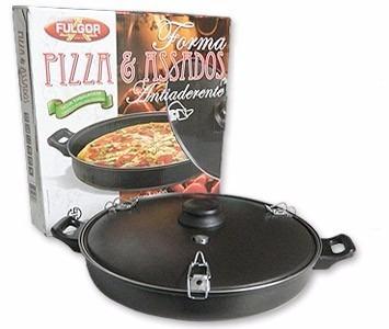 5 forma assadeira para pizza e assados antiaderente + brinde