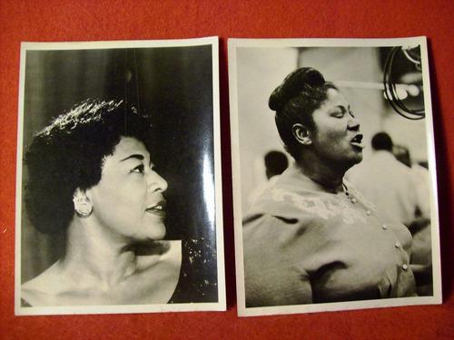 5 fotos originales nat cole ella fitzgerald mahalia jackson