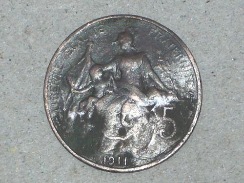 5 franc 1911. francia..