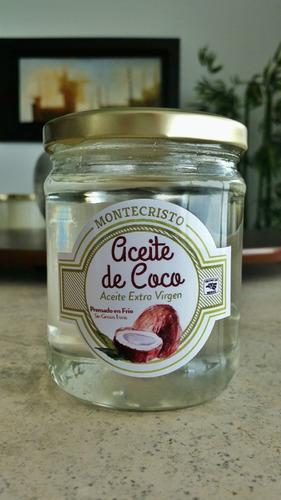 5 frascos de aceite de coco extra virgen montecristo 450 ml.