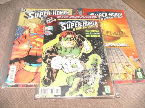 5 gibis super-homem o homem de aço dc equipe fj