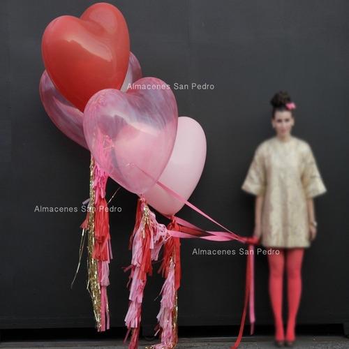 5 globos gigantes en forma de corazón -4 colores disponibles