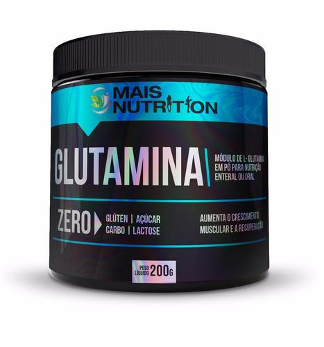 5 glutamina 200g mais nutrition