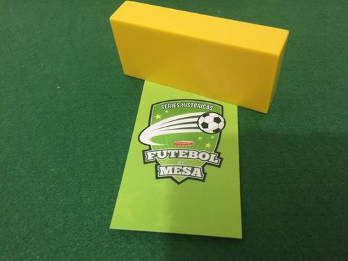 5 goleiros de plástico amarelos - futebol de mesa
