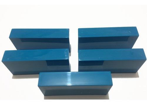 5 goleiros de plástico azul claro - futebol de mesa